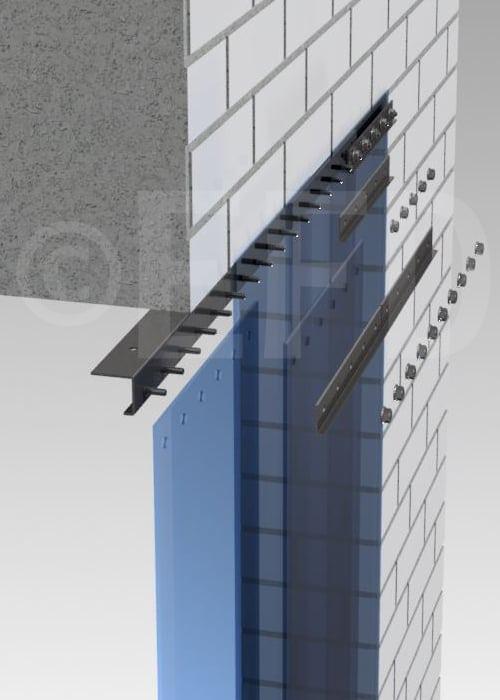 Streifenvorhang Befestigung STD Decke