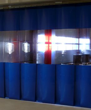 PVC Streifenvorhang Blau Combo nach Maß