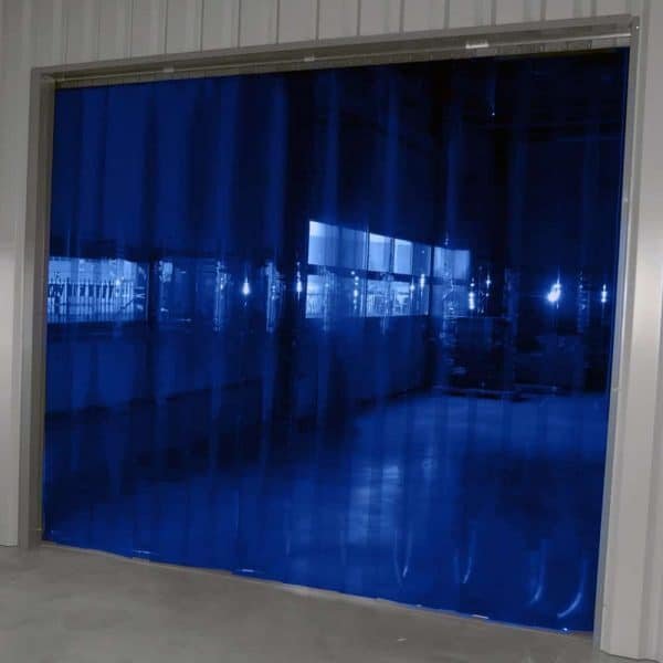 Streifenvorhang Blau Transparent nach Maß