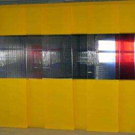 PVC Streifenvorhang Gelb Combo nach Maß