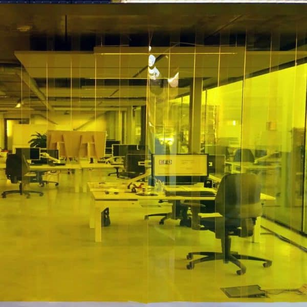 PVC Streifenvorhang Gelb Transparent nach Maß