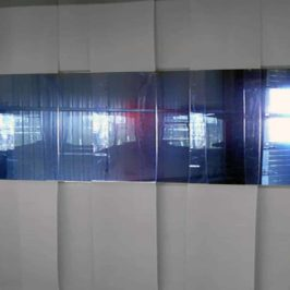PVC Streifenvorhang Grau Combo nach Maß