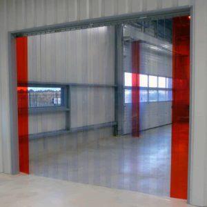 PVC Streifenvorhang Industrie Transparent