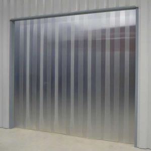 PVC Streifenvorhang Mattiert Transparent nach Maß