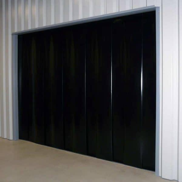 PVC Streifenvorhang Schwarz nach Maß