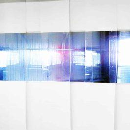 PVC Streifenvorhang Weiß Combo