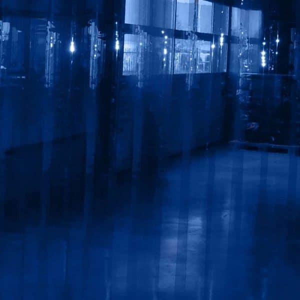 Streifen Vorhang Blau Transparent