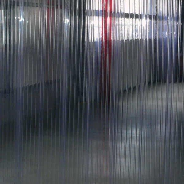 Streifen Vorhang Doppelt Gerippt