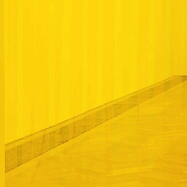 Streifen Vorhang Gelb