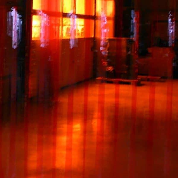 Streifen Vorhang Rot