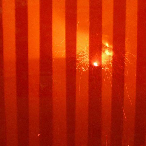 Streifen Vorhang Rot Schweisserschutz
